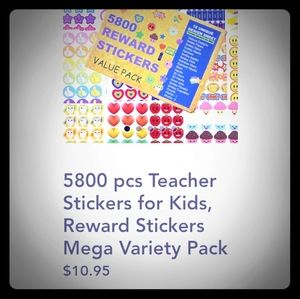 Young ever 5800 reward stickers pack